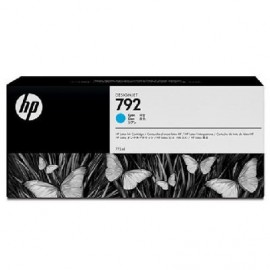 HP 792 Cyan Latex Designjet Ink Cartridge (CN706A)