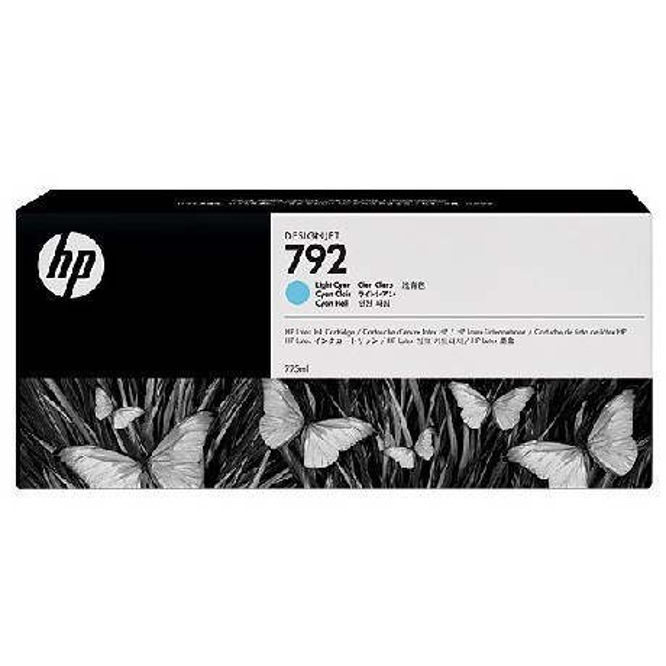 HP 792 Light Cyan Latex Designjet Ink Cartridge (CN709A)